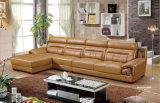 Mobilia del salone, mobilia di cuoio, sofà d'angolo, sofà di cuoio sezionale (615)