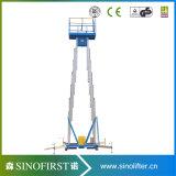 plataforma de levantamento elétrica da liga 10m de alumínio