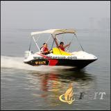 Barco de patrulha de alta velocidade de fibra de vidro de 4,6m