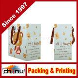 Sac à provisions de papier de carton de Wihte de papier d'art (210003)