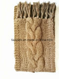 Cashmere Lady's Winter Scarf Hand Knit