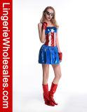 Costume Cosplay американской мечты капитана Америка причудливый платья Halloween женщин