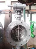 Alta pressão da válvula de borboleta do aço inoxidável da bolacha