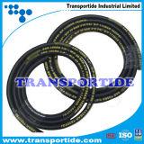 Boyau industriel de la tresse SAE100 R6 de fil d'acier à haute limite élastique