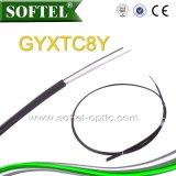 Câble de fibre optique aérien autosuffisant GYFTC8Y