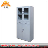 Cabina de cristal de acero del armario del fichero del laboratorio del instrumento del metal de los muebles de la puerta de la media altura