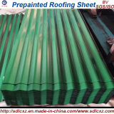 (0.14mm-0.8mm) Vorgestrichenes galvanisiertes gewölbtes Stahldach-Blatt