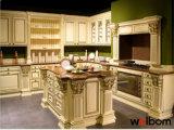Welbom passt elegantes amerikanisches Eichen-Luxuxholz Küche-Schrank an