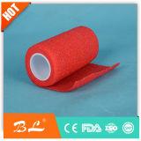 Atadura coesiva 2.5cm*4.5m dos primeiros socorros de fita protetora do envoltório do dedo de 2 Rolls
