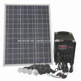 Sistema de energia solar com 4 luzes do diodo emissor de luz