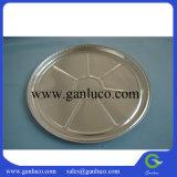 Plaque de nourriture de papier d'aluminium de forme ronde