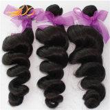 Tessuto allentato dei capelli di Remy dell'onda del nero del 1b dei capelli brasiliani naturali del Virgin
