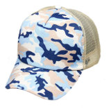 بيع بالجملة يطبع زرقاء [كمو] شبكة قبّعة سهل فراغ شحّان قبّعة