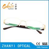 Telaio dell'ottica di Eyewear di modo di vetro di titanio Semi-Senza orlo del monocolo per la donna (8210)