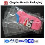 Peúgas transparentes plásticas de OPP que empacotam o saco com gancho