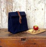 カスタム革バンドが付いているワックスを掛けられたキャンバスの昼食袋を防水しなさい