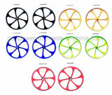 Red Jills, Black Rims, Green Bicycle Wheels, 26 pouces 6PCS Blade for Racing Bike