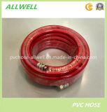 Boyau à haute pression tressé de jet d'air de fibre flexible en plastique de PVC