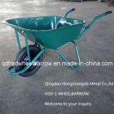 空気車輪の一輪車
