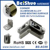 Parentesi d'angolo di alluminio di angolo del portello del metallo di tono dell'argento del hardware di Window&Door