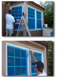 Guichet Glass Protective Films avec UV