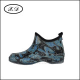 Ботинки PVC дождя сада способа для женщины (BX-015-2)