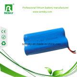 18650 pack batterie d'ion de 7.4V 2200mAh Li pour des éclairages LED