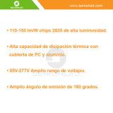 Amplio Voltaje 85V-265V Tubo LED T8 1500mm