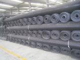Стеклянное волокно Geogrid прочности на растяжение для железнодорожного учредительства