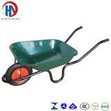 Wheelbarrow verde do metal