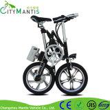 Bici eléctrica del pequeño plegamiento del marco de la aleación de 16 pulgadas