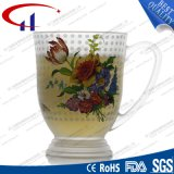 taza de cristal del agua de la flor de 270ml Decaled (CHM8098)