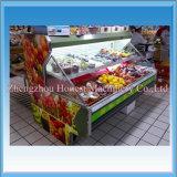 Refrigerador da carne do marisco do supermercado com baixo consumo