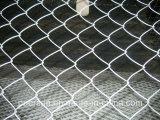熱い浸された電流を通されたチェーン・リンクの塀、チェーン・リンクの金網