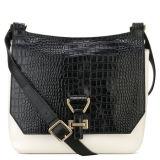 고체 PU 어깨에 매는 가방 유행 악어 패턴 Crossbody 새로운 핸드백