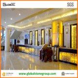 Quartz bianco Receptionist Desk Tops per Hospitality Hotel Lobby