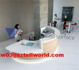 Weißer hoher Glanz-Empfang-Kostenzähler-Schreibtisch