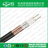 RG6 cable coaxial gemelo Installtion fácil para el sistema basado en los satélites