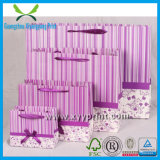 Изготовленный на заказ мешок подарка бумажного мешка венчания Silk с ручкой