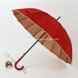 """parapluie de Sun UV de protection de 23 """" *16K avec l'enduit d'or (YSS0144)"""