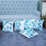 Ammortizzatore/cuscino decorativi della stampa di Digitahi con il reticolo geometrico di Ikat (MX-13)