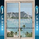 Раздвижная дверь Huiye времен алюминиевая с толщиной 1.0mm~3.0mm двойного слоя стеклянной