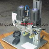 Máquina de rellenar semi automática con la máquina que capsula