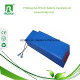 48V 20ah 1000W nachladbarer Lithium-Batterie-Satz mit blauem Belüftung-und Batterie-Satz der Draht-Li-PO