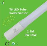 câmara de ar do diodo emissor de luz de 9W 900lm 0.6meter T8 com sensor de radar e com Ce RoHS