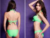 Colore puro semplice sexy classico di riserva un bikini poco costoso delle tre parti