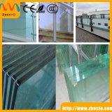 Белизна подгоняла Tempered/прокатанное стекло поплавка для загородки балкона структурно