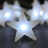 Luz personalizada da bateria da estrela da luz da bateria da estrela do diodo emissor de luz pendente branco