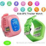 GPS perseguidor del reloj de los niños con IOS y Android APP (H3)