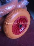 중국 공장 가격 PU 거품 외바퀴 손수레 바퀴